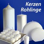 Kerzen-Rohlinge, Stumpen, Kommunionkerzen, Designer-Kerzen, Oval Kerzen