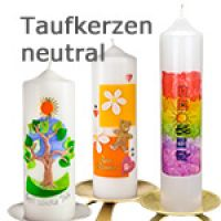 Taufkerzen neutral