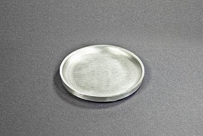 kerzenteller metall aluminium silber d 10cm. Black Bedroom Furniture Sets. Home Design Ideas