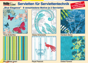 Serviettentechnik Blue Elegance