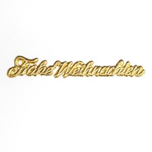 Frohe Weihnachten Schrift.Frohe Weihnachten 1 2x7 5cm Gold