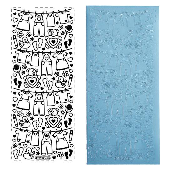 sticker alles f rs baby hellblau. Black Bedroom Furniture Sets. Home Design Ideas