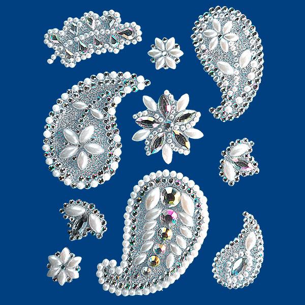 schmuckelemente aus perlen und steinen zum kerzen verzieren. Black Bedroom Furniture Sets. Home Design Ideas