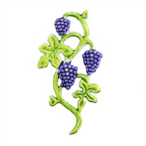Wachsmotiv Dekorativer Weinstock Grün Lila