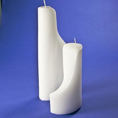 kerzenrohling yin yang 2 kerzen im candela shop. Black Bedroom Furniture Sets. Home Design Ideas