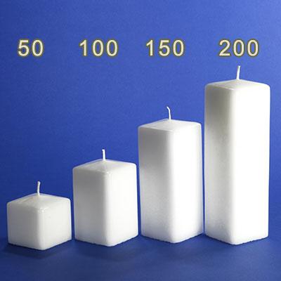 kerzenrohling vierkant kerze 150x60x60mm im candela shop. Black Bedroom Furniture Sets. Home Design Ideas