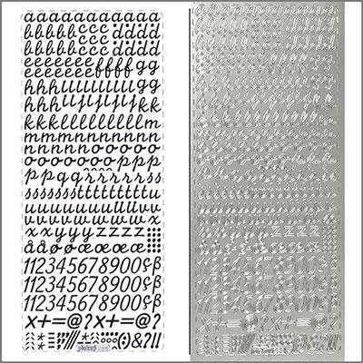 sticker schreibschrift klein 10mm silber. Black Bedroom Furniture Sets. Home Design Ideas
