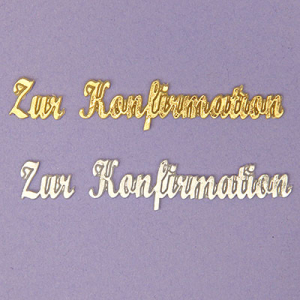 Zur Konfirmation gold 10/70mm