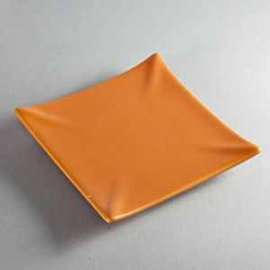 Kerzenteller Quadrat 13cm - ORANGE