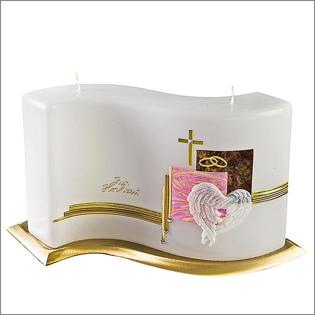 hochzeitskerze 544 welle im candela shop. Black Bedroom Furniture Sets. Home Design Ideas
