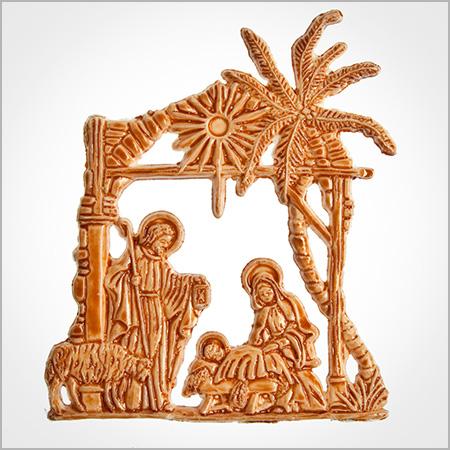 wachsmotiv heilige familie braun bemalt im candela shop. Black Bedroom Furniture Sets. Home Design Ideas