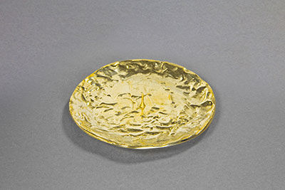 kerzenteller metall messing gold d 12 5cm. Black Bedroom Furniture Sets. Home Design Ideas