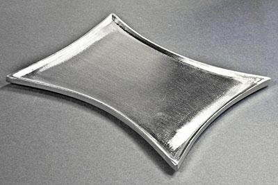 kerzenteller metall messing silber 16 5x10cm. Black Bedroom Furniture Sets. Home Design Ideas