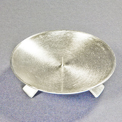 kerzenhalter metall messing 3 fuss silber d13cm. Black Bedroom Furniture Sets. Home Design Ideas